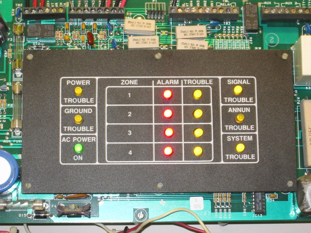 Simplex on Fire Alarm Control Panel System And