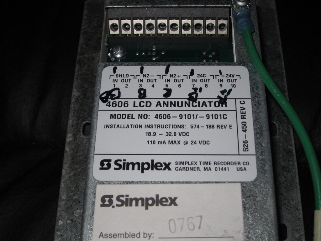 FAZone - Fire Alarms - Fire Alarm Collection - Simplex 4606-9101